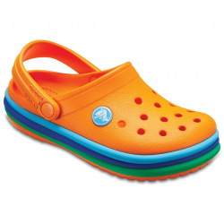 Detská rekreačná obuv CROCS-CB Rainbow Band Clog K Blazing Orange