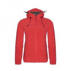 Dámska turistická softshellová bunda BERG OUTDOOR-YUKON-WOMEN-SPICED CORAL