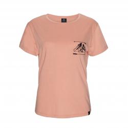 Dámske turistické tričko s krátkym rukáv BERG OUTDOOR-KERAN-WOMEN-MUTED CLAY