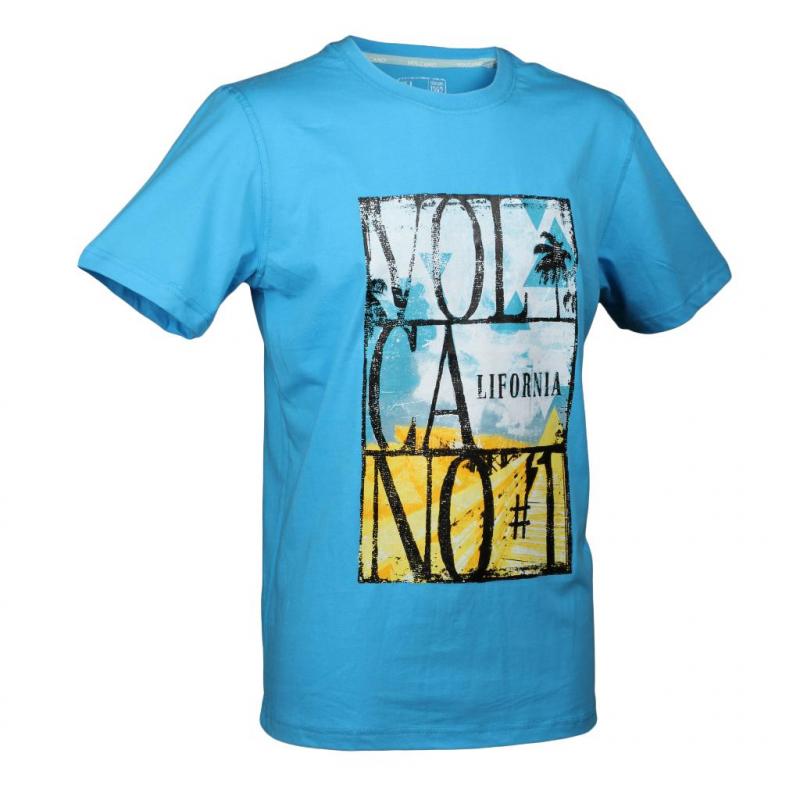 ebd2a6b1a622 Pánske tričko s krátkym rukávom VOLCANO-T-PALMVIEW blue light -