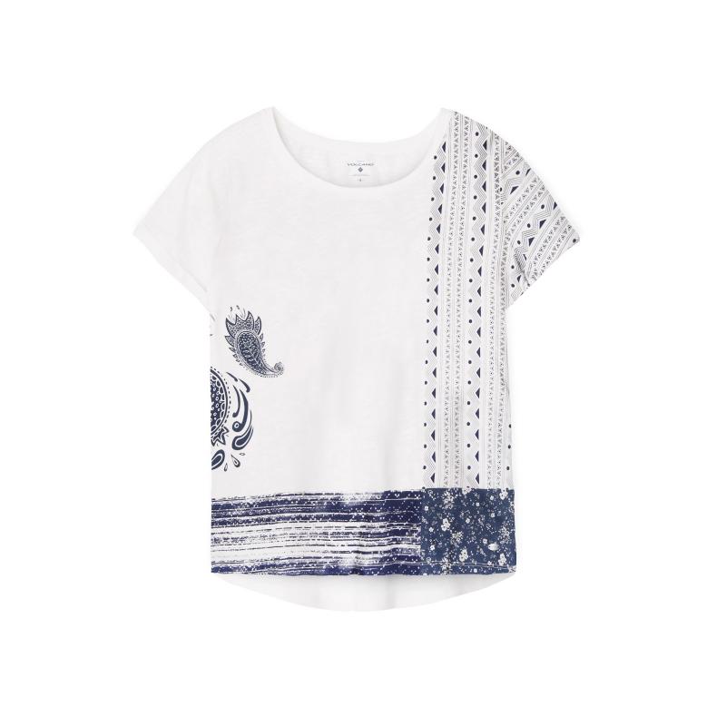 Dámske tričko s krátkym rukávom VOLCANO-T-MARCELINA-WOMEN-White 60d571644d3