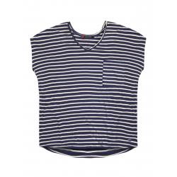 Dámske tričko s krátkym rukávom VOLCANO-T-RUTH-WOMEN-Blue dark