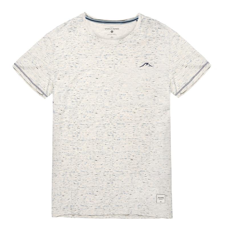 8cf490b513a5 Pánske tričko s krátkym rukávom VOLCANO-T-CMYK-MEN-Beige - Pánske