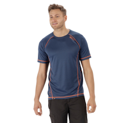 Pánske turistické tričko s krátkym rukáv REGATTA Virda IIDkDen/ShckOr