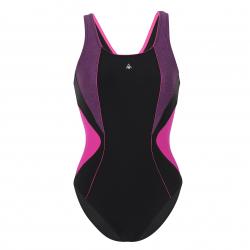 Dámske plavecké jednodielne plavky AQUA SPHERE CHELSEA-black/pink