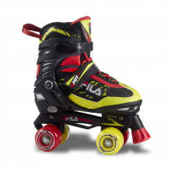 Juniorské 4-kolieskové korčule FILA SKATES-JOY BLACK/RED/LIME