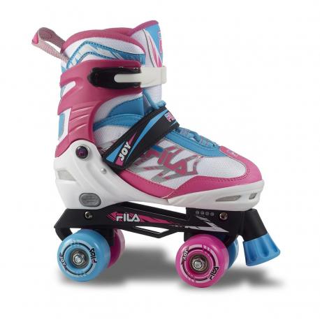 Juniorské 4-kolieskové korčule FILA SKATES-JOY G WHITE/PINK/LIGHTBLUE