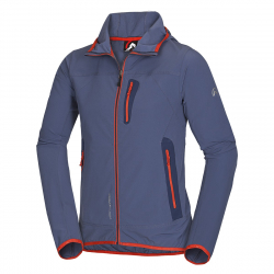 Pánska turistická softshellová bunda NORTHFINDER-CASE-Blue