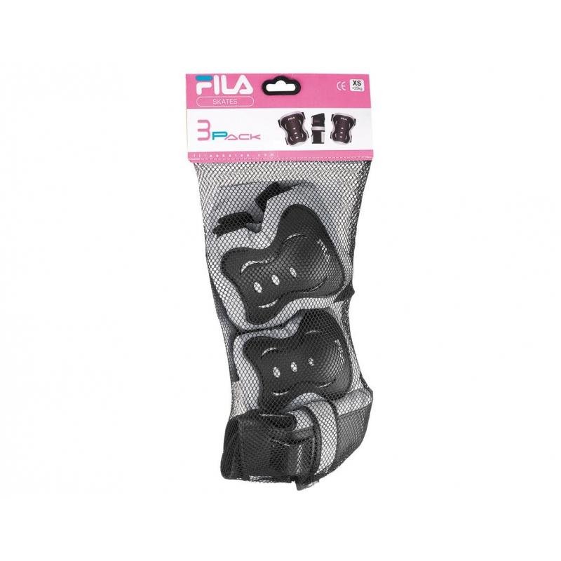 Detský chránič na korčule FILA SKATES-JUNIOR GIRL FP gears 3SET silver/pnk - Chrániče na korčule značky Fila Skates.