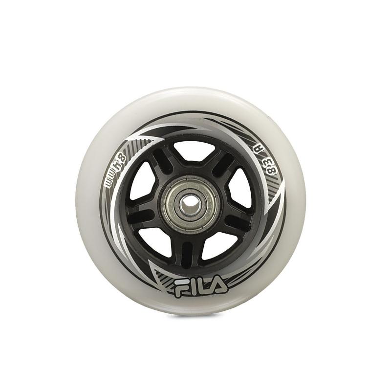 Kolieska, ložiská a vymedzovač inline FILA SKATES WHEELS 84MM/83A+A7+AS8MM - Náhradné diely na korčule značky Fila Skates.
