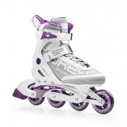 Dámske fitness kolieskové korčule SPOKEY PRIME 80mm/82A ABEC9 WHITE/PURPLE