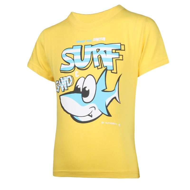 Detské tričko s krátkym rukávom AUTHORITY-ARTEO B I yellow - Chlapčenské tričko s krátkym rukávom značky Authority.