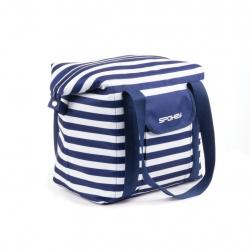 Kempingová taška SPOKEY SAN REMO Plážová termo taška, pruhy - navy 52 x 20