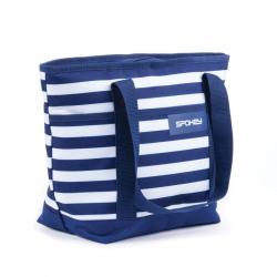 Kempingová taška SPOKEY ACAPULCO Plážová termo taška malá, pruhy - navy 39