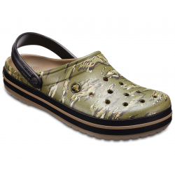 Rekreačná obuv CROCS-Crocband Graphic Clog Dark Camo Green