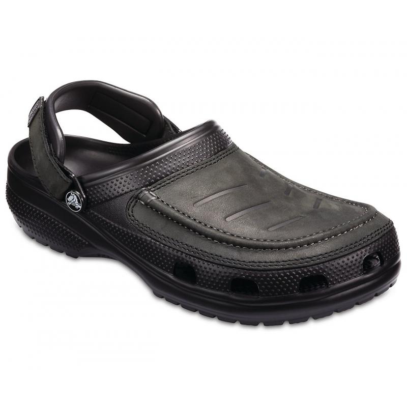 Pánská rekreační obuv CROCS-Yukon Vista Clog M Black / Black 39/40 Černá