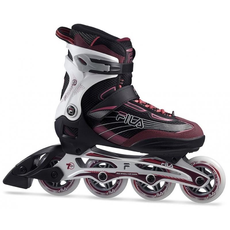 Dámske fitness kolieskové korčule FILA SKATES-MIZAR 84 LADY BLACK/MAGENTA - Fitness kolieskové korčule značky Fila Skates.