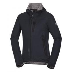 Pánska turistická softshellová bunda NORTHFINDER-DALLAS-Black