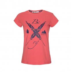 Dámske turistické tričko s krátkym rukáv BERG OUTDOOR-INDO-WOMEN-SPICED CORAL