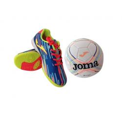 Detské futbalové kopačky halové JOMA Tactil blue