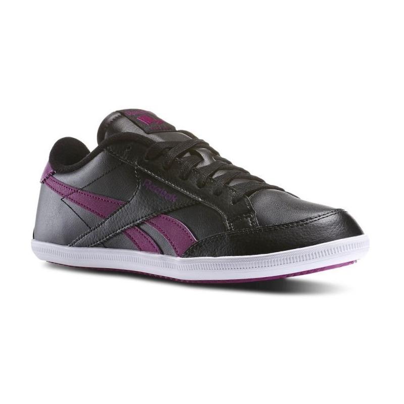 Rekreačná obuv REEBOK-REEBOK ROYAL TRANSP BLACK FUCHSIA SHARK  - Dámske  nízke 80ee6f94813