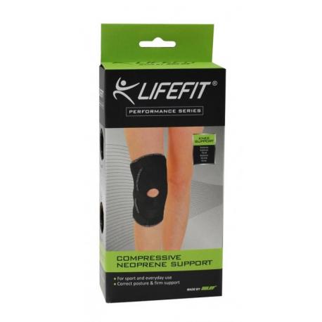 Fitness chránič LIFEFIT-Neoprenová bandáž BN303 Koleno otvorené TRL
