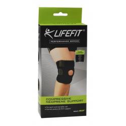 Fitness chránič LIFEFIT-Neoprenová bandáž BN304 Koleno otvorené s výstuho