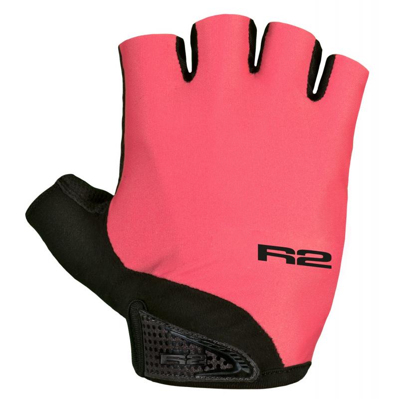 Cyklistické rukavice R2-Riley neónová červená/čierna - Cyklistické rukavice značky R2.