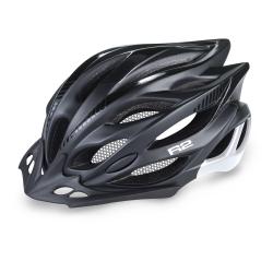 Cyklistická prilba R2 WIND - čierna/biela