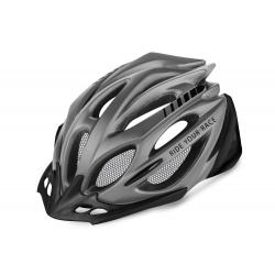 Cyklistická prilba R2-PRO-TEC - sivá/matná čierna