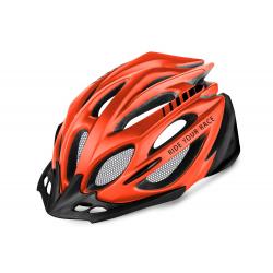 Cyklistická prilba R2 PRO-TEC - neónová červená/čierna