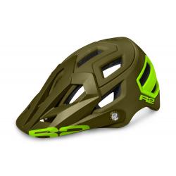 Cyklistická prilba R2 TRAIL - zelená/neónová žltá