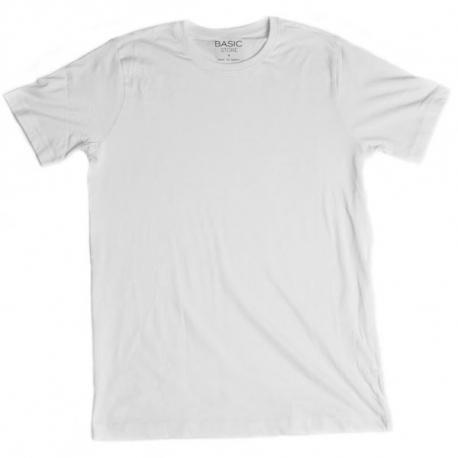 Pánske tričko s krátkym rukávom BASIC STORE Mens T-shirt Basic white - Pánske tričko s krátkym rukávom značky Basic Store.