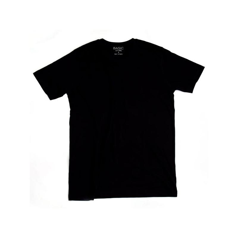 Pánske tričko s krátkym rukávom BASIC STORE Mens T-shirt Basic black - Pánske tričko s krátkym rukávom značky Basic Store.