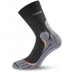 Pánske turistické ponožky LASTING TWW 900 BLACK