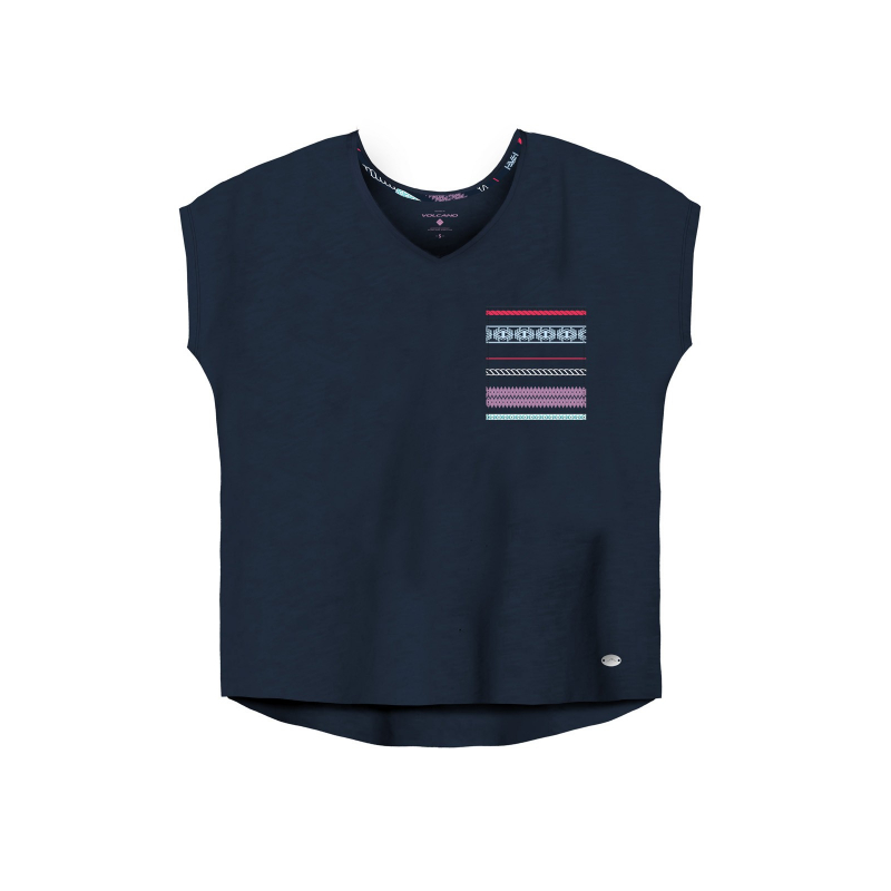 274707cb095d Dámske tričko s krátkym rukávom VOLCANO-T-CATIA-WOMEN-Blue dark -