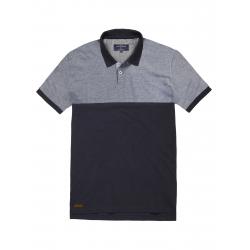Pánske polo tričko s krátkym rukávom VOLCANO-T-LEON-MEN-Black