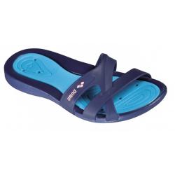Dámska obuv k bazénu ARENA Athena Woman Hook denim-sv.modrá-růžová