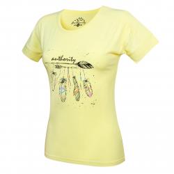 Dámske tričko s krátkym rukávom AUTHORITY-RAUTYNAS yellow