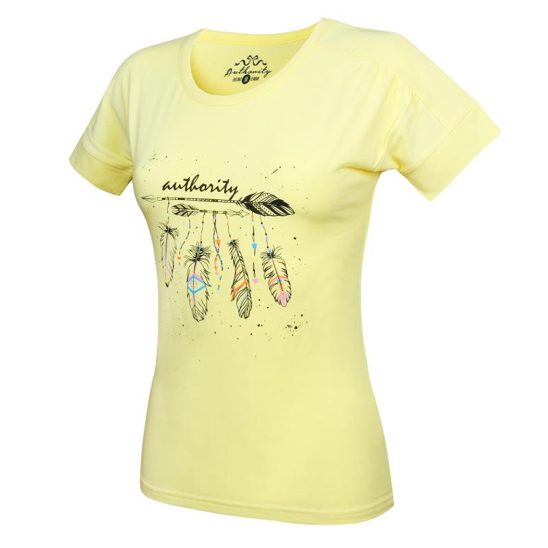 1a46fdce293b Dámske tričko s krátkym rukávom AUTHORITY-RAUTYNAS yellow - Dámske tričko s krátkym  rukávom značky