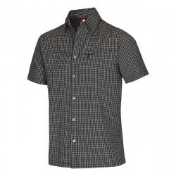 Pánska turistická košeľa s krátkym rukáv NORTHFINDER-NICHOLAS-Black