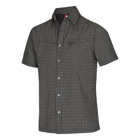 cbd9a20e45af Turistická košeľa s krátkym rukávom NORTHFINDER-NICHOLAS-Black ...