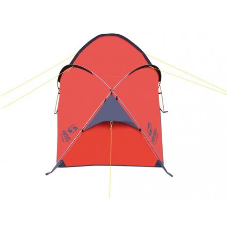 2 (dvojmiestny) outdoorový stan HANNAH Rider 2 mandarin red - Stabilný trojprútový stan značky Hannah s vonkajšou konštrukciou.