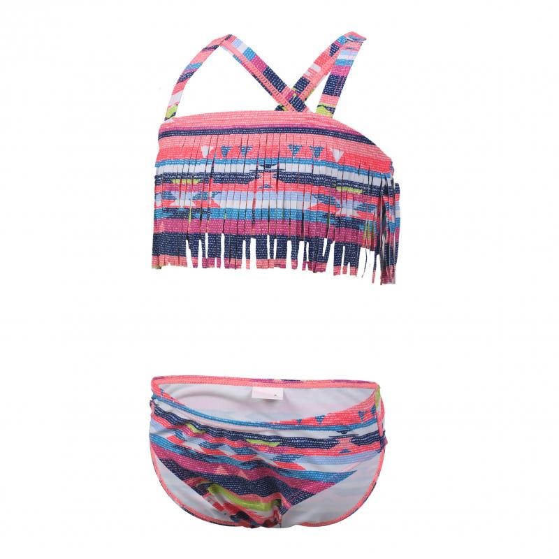 Dievčenské dvojdielne plavecké plavky COLOR KIDS-Navida - Sugar Coral 69ae9d3c6b
