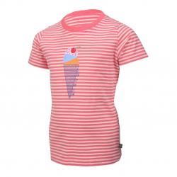 Dievčenské tričko s krátkym rukávom COLOR KIDS-Nicole-GIRLS-Pink light