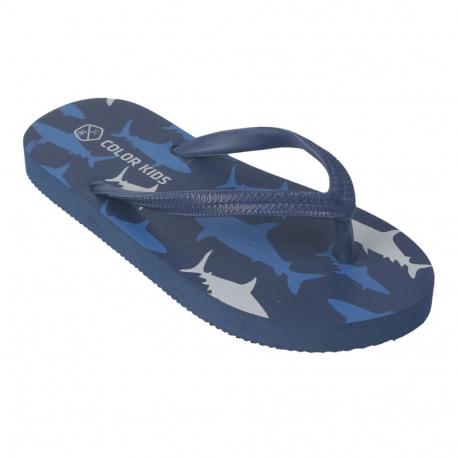 Chlapčenské žabky (plážová obuv) COLOR KIDS-Nemo Flip flop Jeans Blue