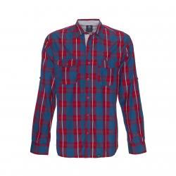 Pánska turistická košeľa s dlhým rukávom BERG OUTDOOR-NAVET-MEN-BLUE CORAL