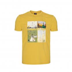 Pánske turistické tričko s krátkym rukávom BERG OUTDOOR-BURNIE-MEN-YOLK YELLOW