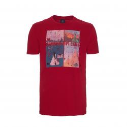Pánske turistické tričko s krátkym rukáv BERG OUTDOOR-BURNIE-MEN-CHILI PEPPER