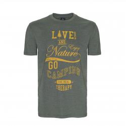 Pánske turistické tričko s krátkym rukáv BERG OUTDOOR-BERING-MEN-RIFLE GREEN